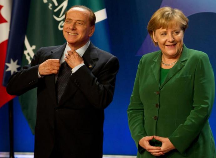 Altri tempi: Berlusconi e la Merkel