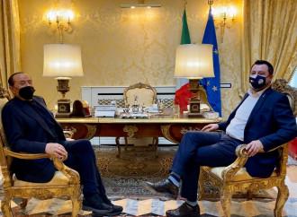 Salvini e Berlusconi uniti per timore della Meloni