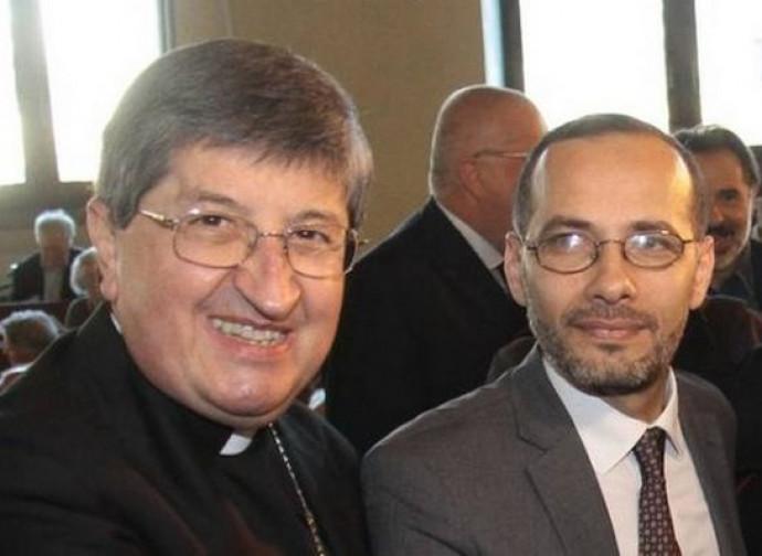 L'arcivescovo Betori con l'imam di Firenze