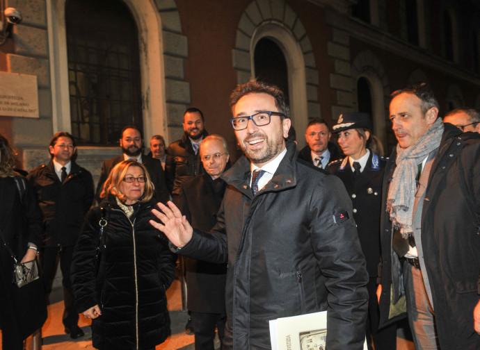 Il ministro Bonafede in visita a San Vittore, Milano