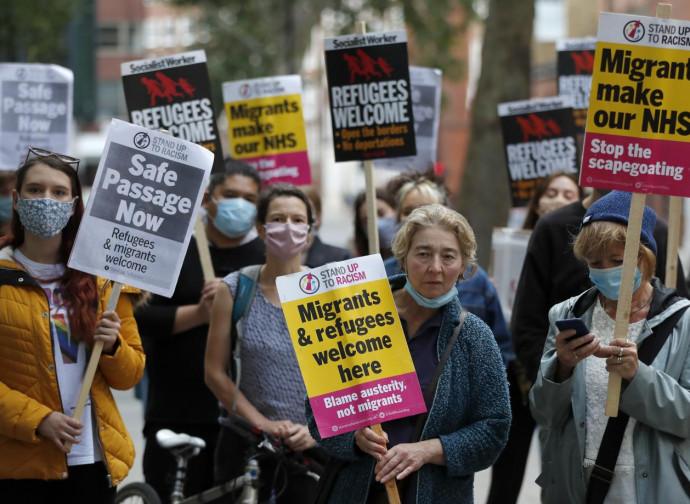 Manifestazione a Calais