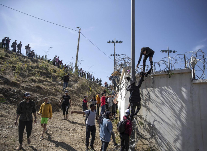 Il confine di terra fra Marocco e Spagna