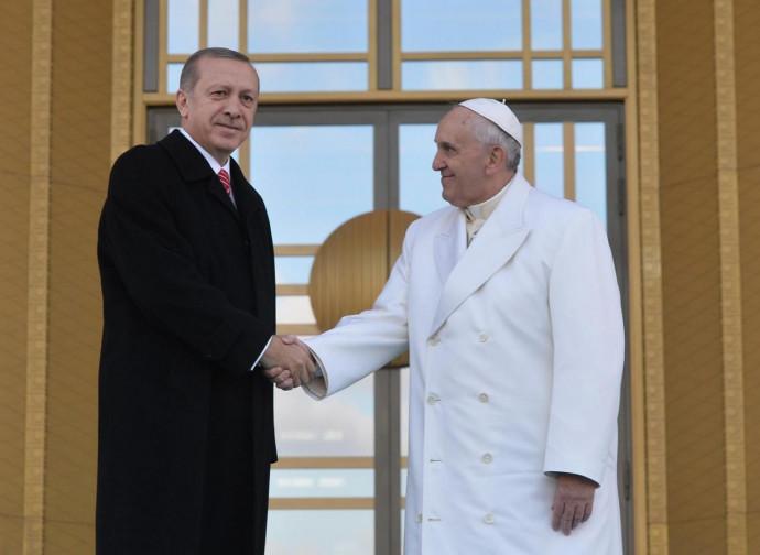 Erdogan e Papa Francesco ad Ankara
