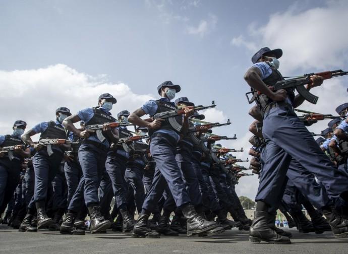 Polizia etiope in parata