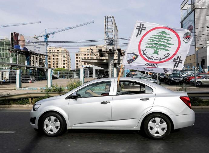 Libano al voto, militante delle Forze Libanesi
