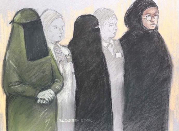 Le terroriste arrestate nel disegno della Corte