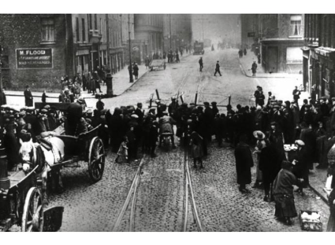 Un'immagine della rivolta di Dublino del 1916
