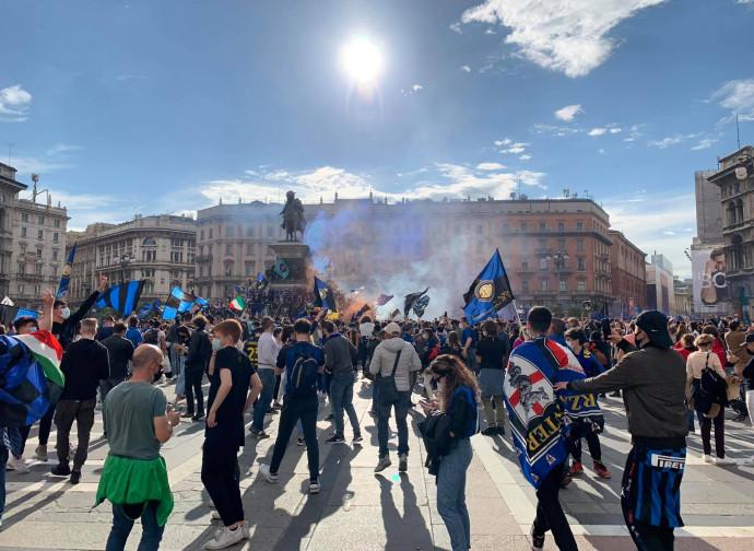 Milano, la festa dello scudetto dell'Inter