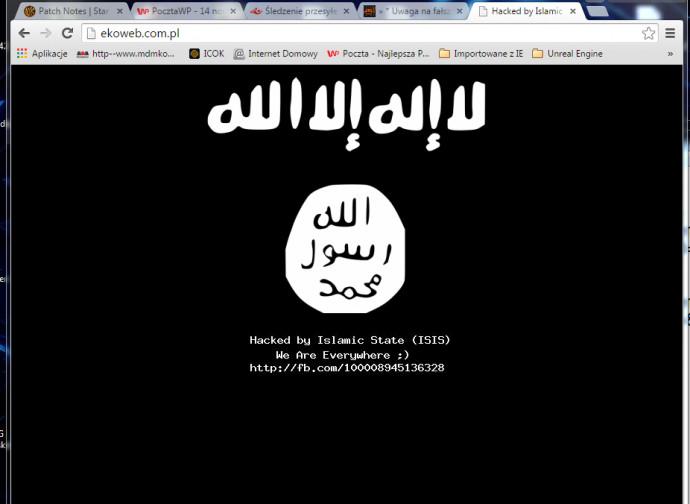 Isis, hacker sfigurano un sito