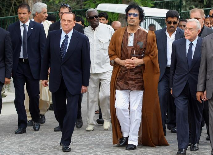 Gheddafi e Berlusconi nel 2010