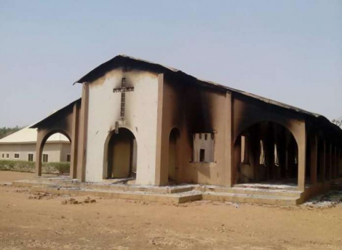 Chiesa bruciata a Maiduguri