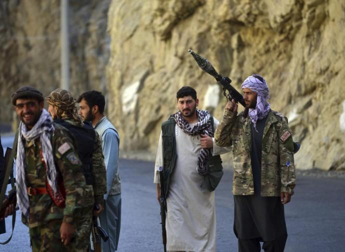 Le milizie di Massud nel Panshir