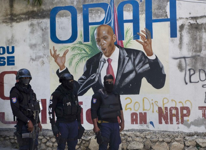 Jovenel Moise in un murales