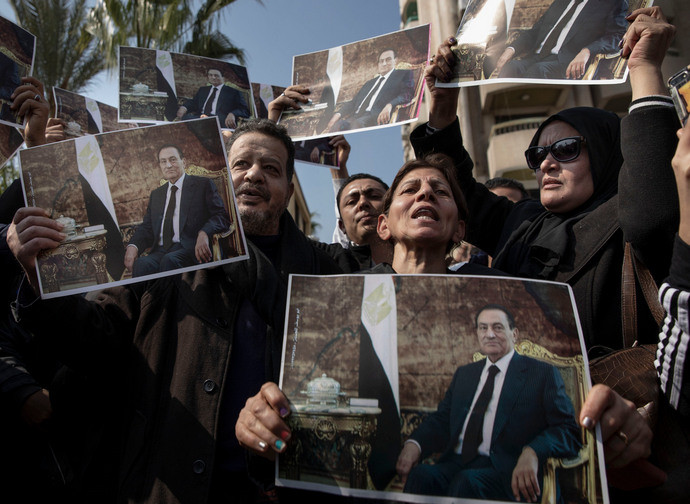 I funerali dell'ex presidente Mubarak