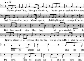 Il canto sulla lotta del cristiano ispirato dalla Madonna