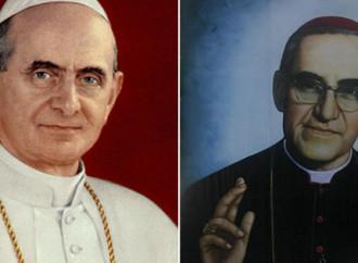Paolo VI e monsignor Oscar Romero santi insieme