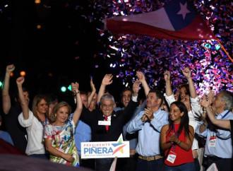 Prevale Piñera su una sinistra divisa e in crisi
