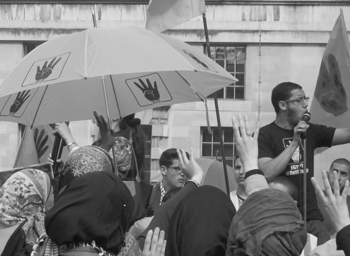 Manifestazione dei Fratelli Musulmani a Londra