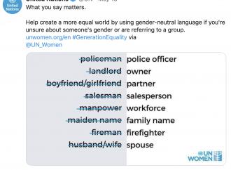 """Basta """"marito"""" e """"moglie"""", l'Onu promuove la neolingua"""